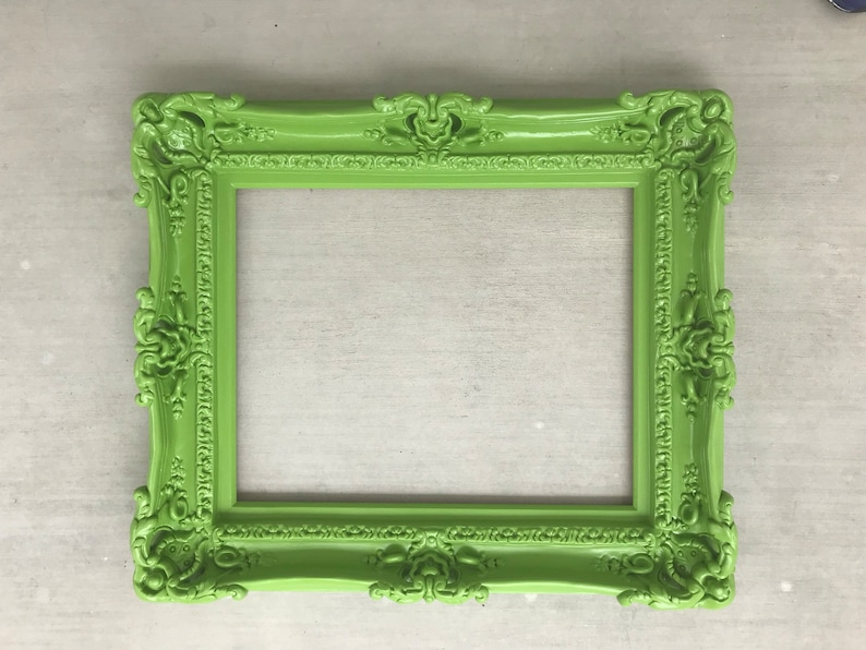 Baroque Mirror Chic Frame for Canvas or Art Paint Original Frames 20x24 Large Green Frame Pictures Frames