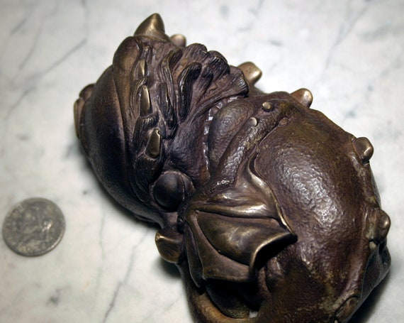 BABY DRAGON Bronze Sculpture - Archival Patina Finish
