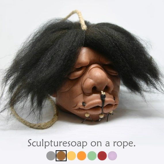 "Shrunken Head Soap-On-A-Rope ""Old Peru"""