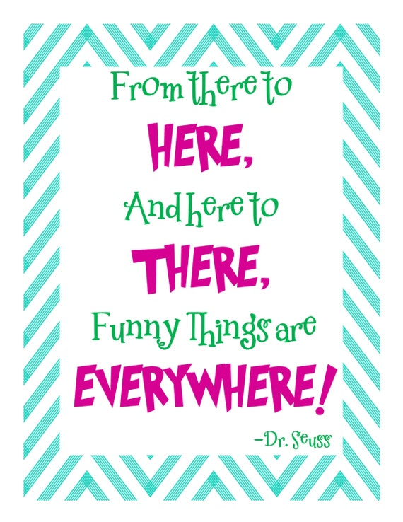 Dr. Seuss Quotes on Chevron Background ~ Bonus Pack of 5! ~