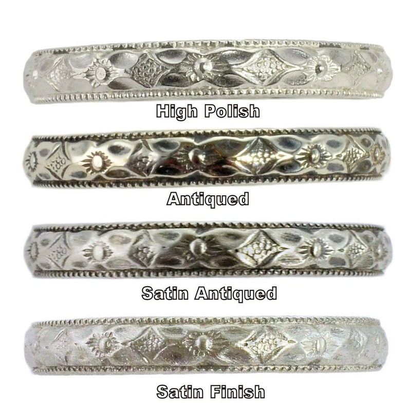 Sterling Silver Contoured Band Vintage Style 2mm Rope Pattern Curved Wedding Band