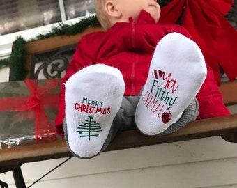 940a06126 Christmas Socks, Merry Christmas ya Filthy Animal Socks, Christmas Gifts for  Baby, Baby Shower Gift, Unisex Baby Shower Gift, Baby Socks