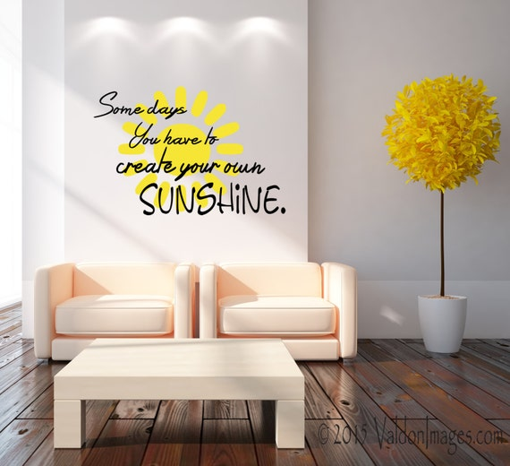 Sunshine Quote Wall Decal Summer Decor Inspirational Wall Etsy