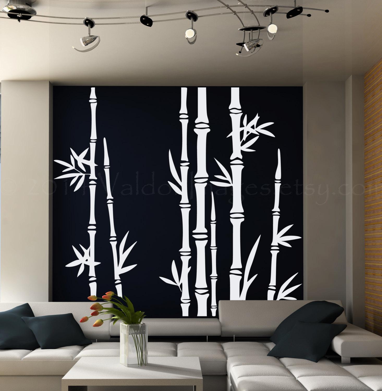 Bamboo Tree Wall Decal Living Room Wall Decal Tree Wall