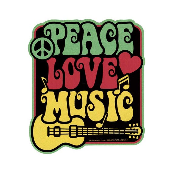 Small Bumper Sticker Peace And Love Decal