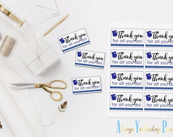 5c42dac4d Thank You For All You Do Police Officer Tags   Cop Appreciation Labels    Law Enforcement Gift Bag Toppers   Police Retirement Party Tags