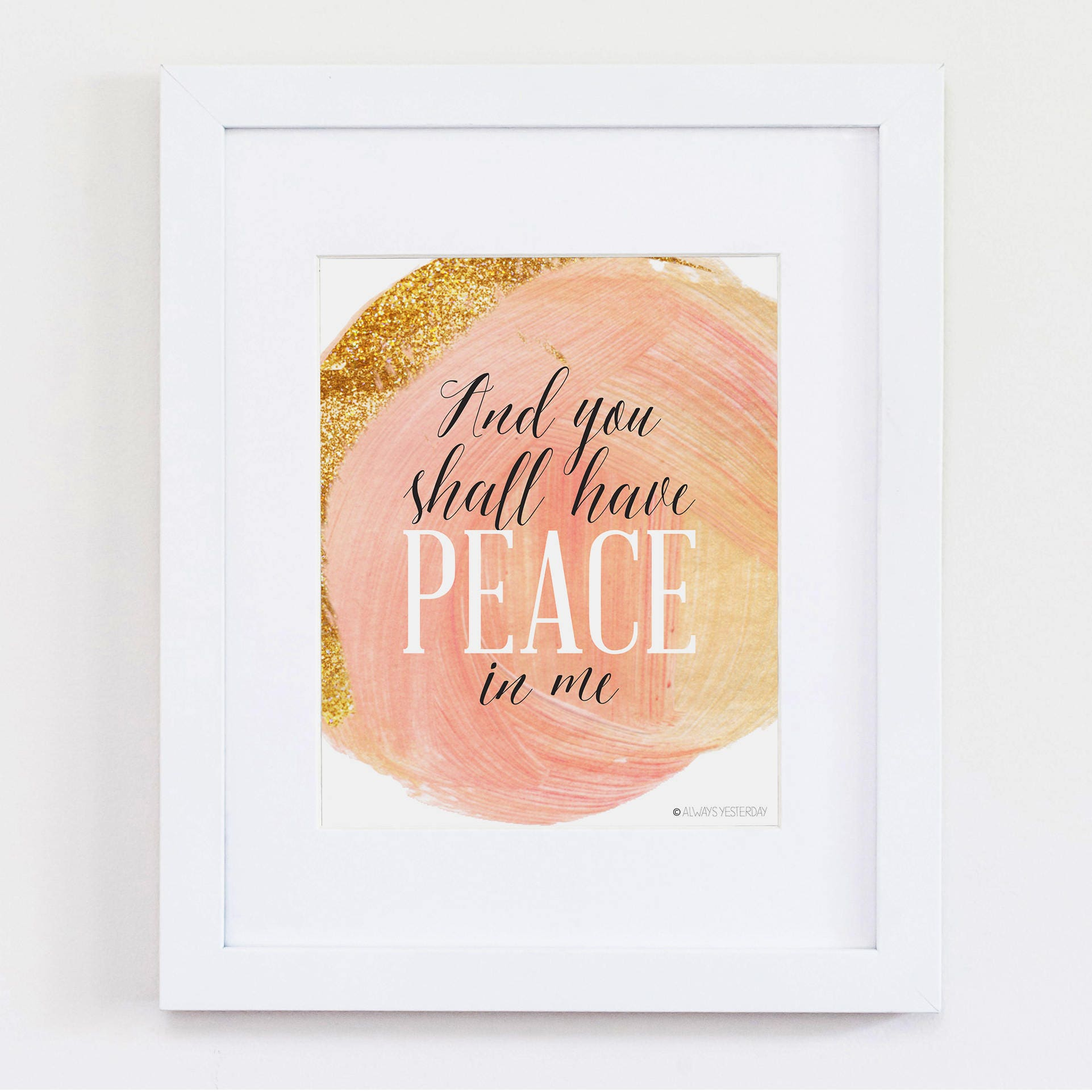 And You Shall Have Peace Wall Art Scripture Art Youth Etsy