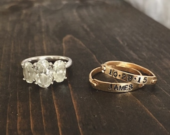 Personalized Gold Stacking Ring