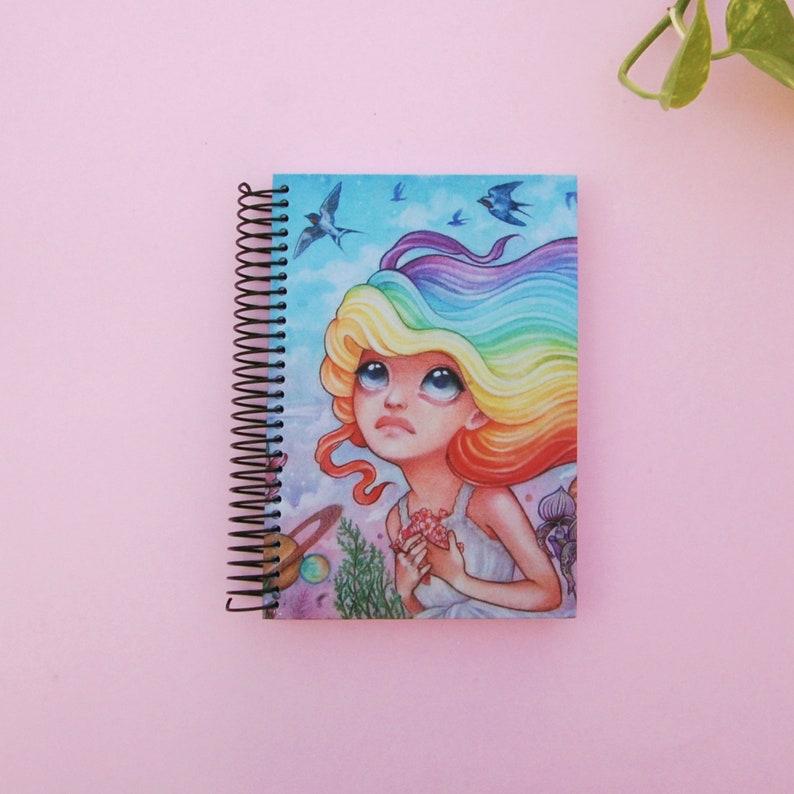 notebook art hardcover notebook notebook handmade sketchbook Notebook A6 notebook unlined rainbow notebook lgtb gift notebook lgtb
