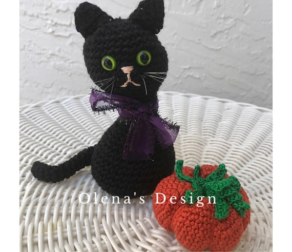 Halloween Crochet Patterns - Set of 5 (Ghost, Witch, Vampire, Cat ... | 491x570