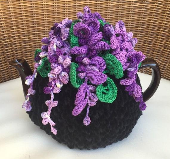 Häkeln Sie Tee gemütlich Schwarztee Abdeckung Glyzinien Blume | Etsy