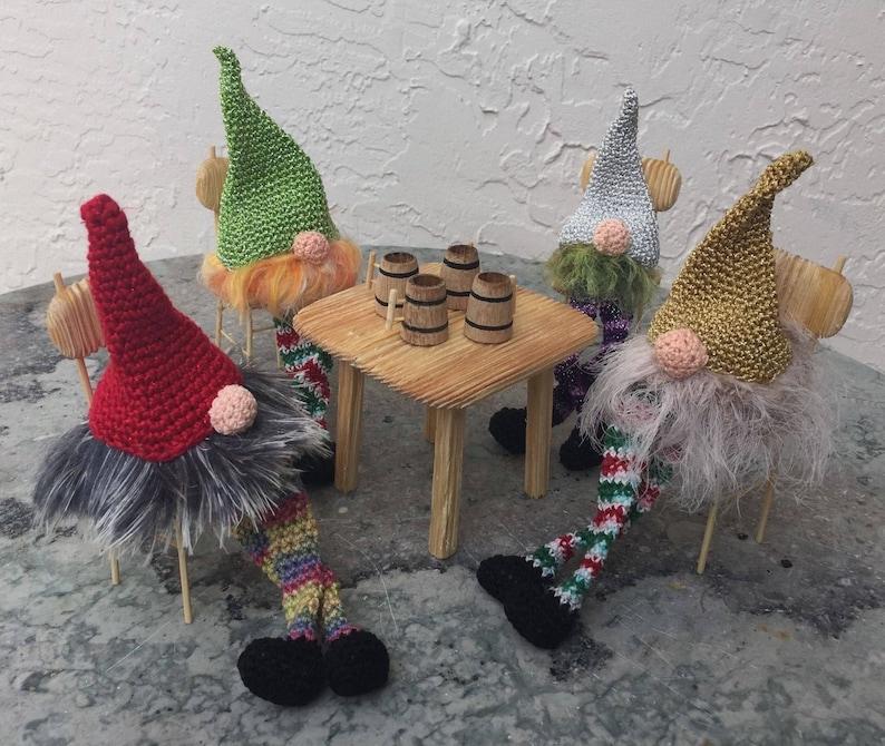 Wooden Doll oak miniature set of 4 beer mugs 1:24 dollhouse furniture oak decor handmade oak doll kitchen set decoration