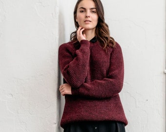 8a53af97bad Fuzzy red sweater
