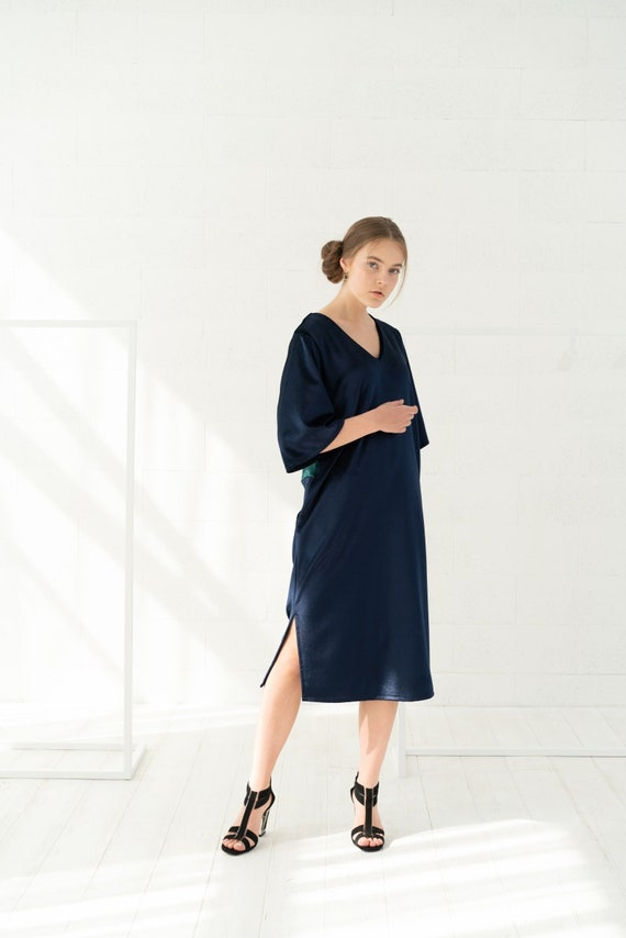 Velvet dress For Women, Plus Size Dress, Midi Dress, Plus Size Clothing,  Minimalist Dress, Oversized Dress, Women Plus Size Dress