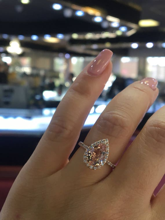 Yellow And Pink Diamond Engagement Rings