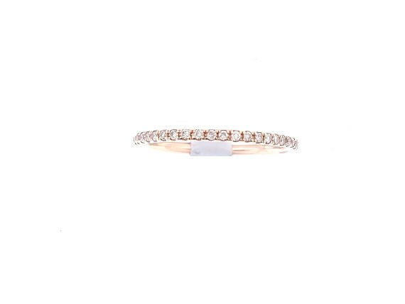 14K Rose Gold Prong Set Diamond Eternity Band Wedding Band Anniversary Band Promise Band Art Deco Antique Yellow Gold White Gold 0.30 Carats