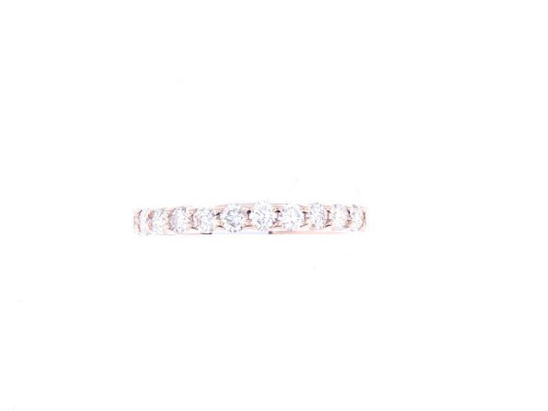 14K Rose Gold Diamond Prong Set Band Wedding Band Engagement image 0