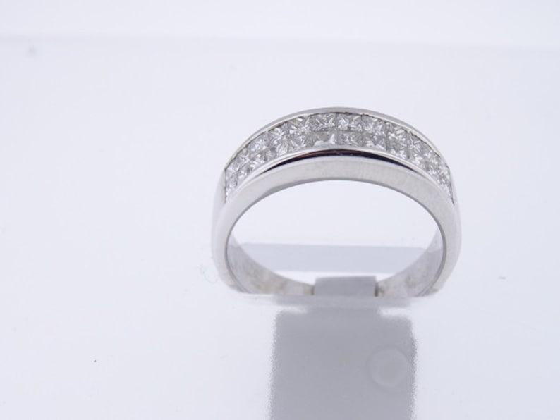 18K White Gold Diamond Invisible Setting Band 5MM  SJ3200IR image 0
