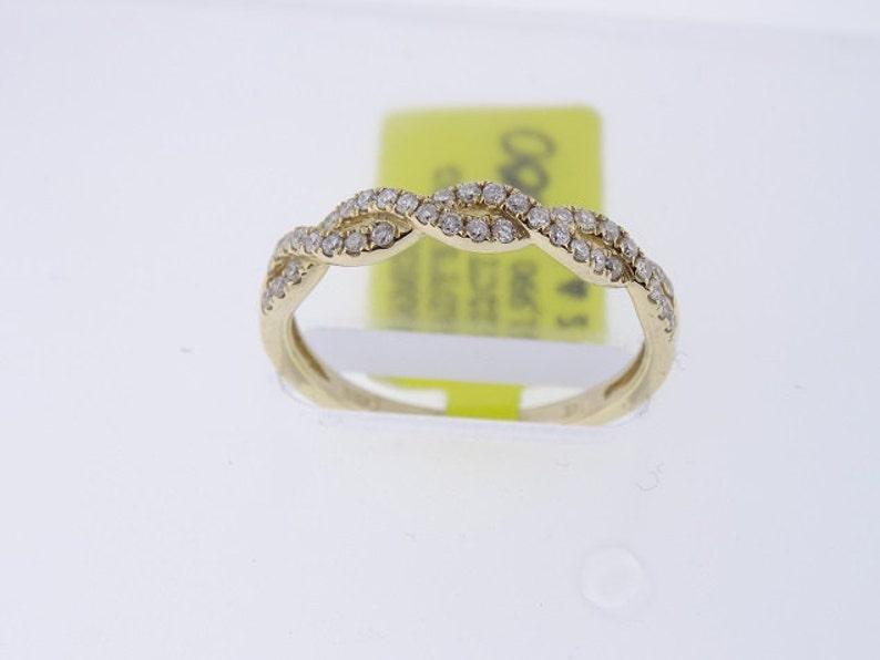 14K Yellow Gold Infinity Diamond Band 3MM  SJ1000Inifnity image 0