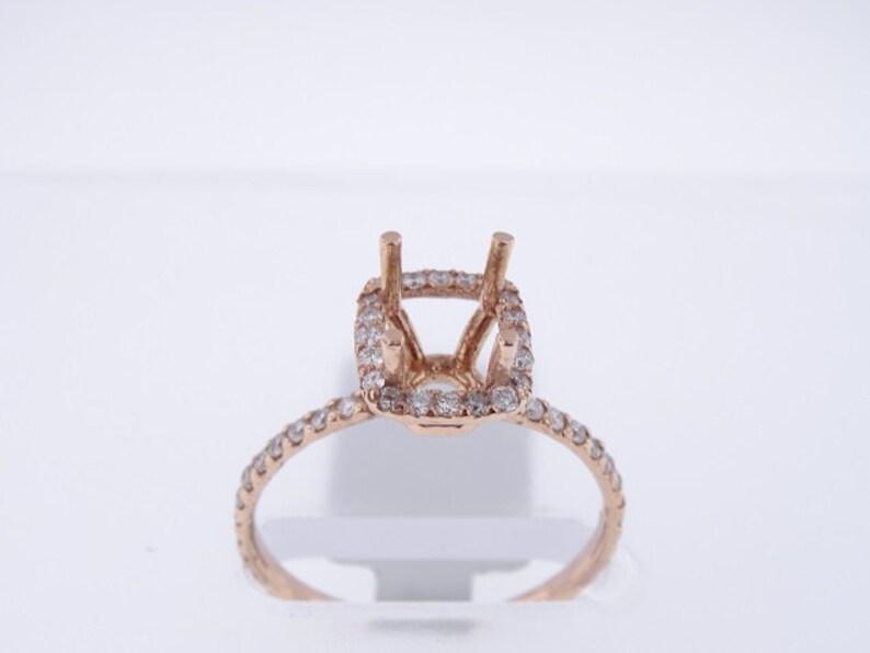 14K Rose Gold Diamond Halo Engagement Ring  SJ1400ER image 0