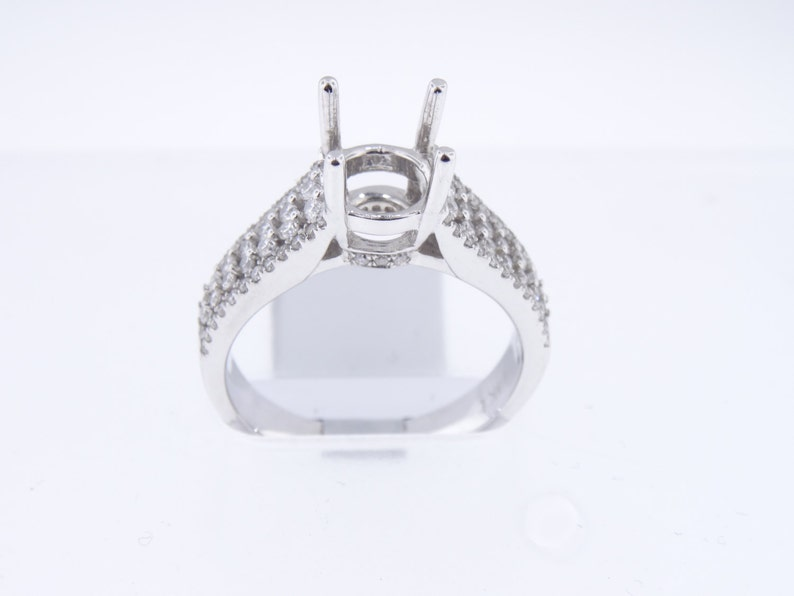 14K White Gold Diamond Engagement Ring Wedding Ring Promise image 0