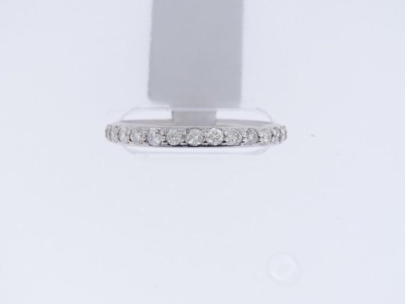 14K White Gold Eternity Diamond Band 2.5MM Sizes 3.5-10 image 0