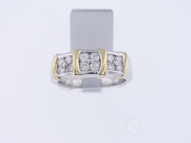 14K Two-Tone Diamond Band  SJ2480TTDB image 0