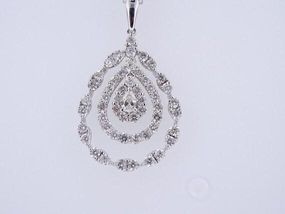 18K White Gold Diamond Pear Shape Pendant - SJ3000SHPP