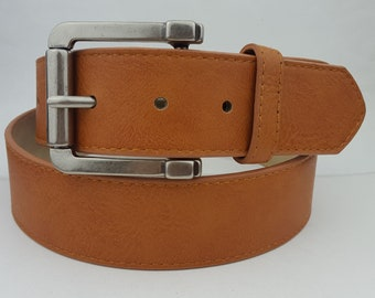 Belt 32 constructed from Reclaimed fire hose Featuring copper and antique brass