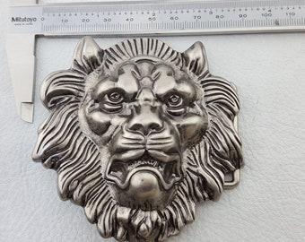 Jaguar Big Cat Wild Animal Silver Chrome Belt Buckle Metal Biker UK Seller