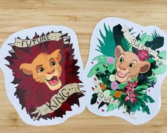 In Stock - Simba and Nala Sticker set