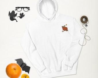 Pumpkin Embroidered Unisex Hoodie
