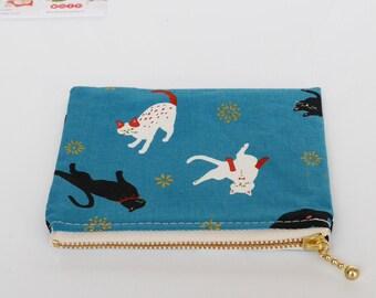 Cat Purse  Coin Purse  Card Purse  Notion Pouch  Handmade