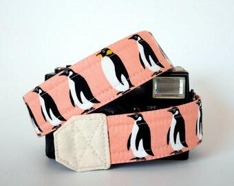 Penguin camera strap, SLR DSLR camera strap, photographer gift, cute camera strap, canon camera strap