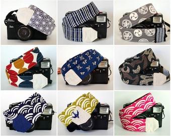 DSLR camera strap Japanese print, Mirrorless Camera strap, stylish camera neck strap, canon nikon