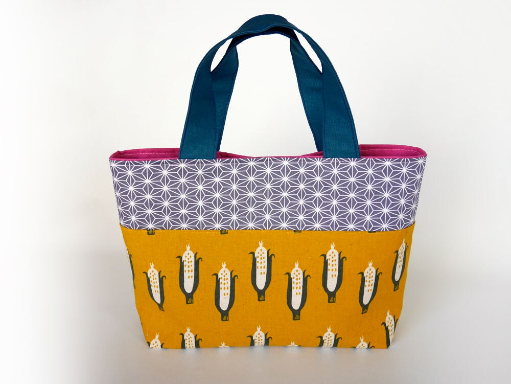 top handle tote bag womens small tote bag lunch bag bag for etsy. Black Bedroom Furniture Sets. Home Design Ideas