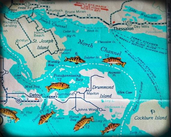 Drummond Island Michigan retro map print funky vintage turquoise photo on douglas island map, fairfield island map, mackinac island map, darby island map, edward island map, great lakes map, rose island map, neebish island map, clover island map, watson island map, wilson island map, lake island map, fiordland island map, new brunswick island map, bad axe map, smith island map, hall island map, canton island map, dollar bay map, baker island map,