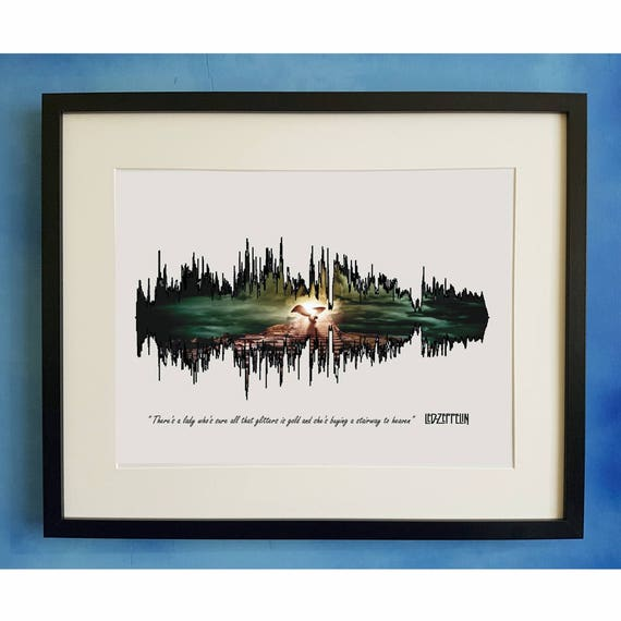 Led Zeppelin Stairway To Heaven Sample Playable Soundwave Etsy