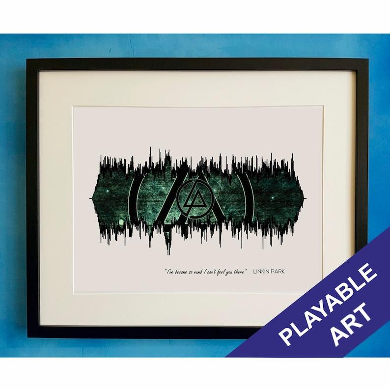 Linkin Park Numb Sample Playable Soundwave Sound Wave Waveform Audio Music  Song Poster Print Art