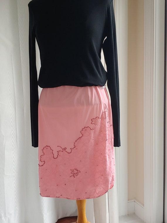 Pink slip skirt
