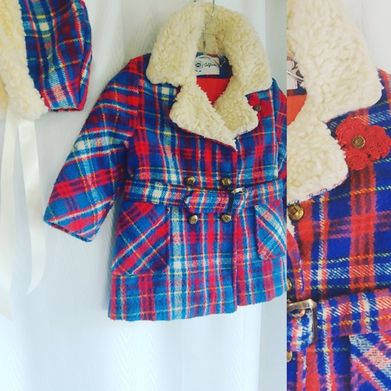 Vintage children's coat and matching hat