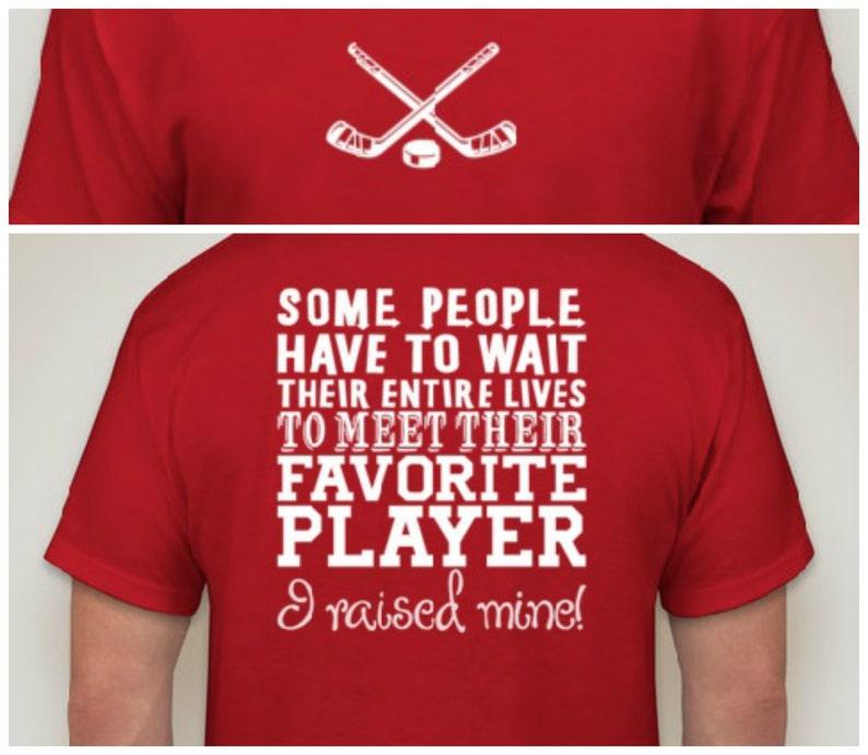 4069f7f7 Hockey t-shirt Proud Hockey Parent Shirt Mom Dad Sports Fan | Etsy
