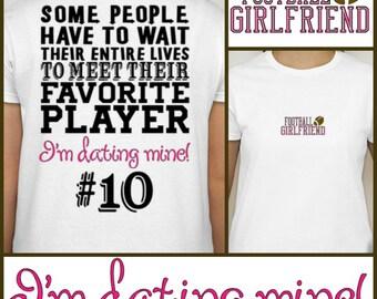 Football Girlfriend t-shirt  Proud Football Girlfriend Shirt Sports Fan Cheer S M L XL XXL