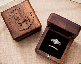 Rustic ring box Ring box wedding Ring box  Engraved ring box Custom ring box Wood ring box Ring box holz Ring box proposal Ceremony ring box
