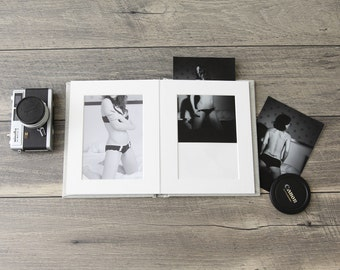 "7x9"" Linen Slip-In Matted Boudoir Photo Album"
