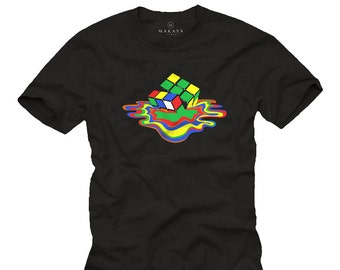 Big Bang Theory Shirt black Sheldon Rubiks