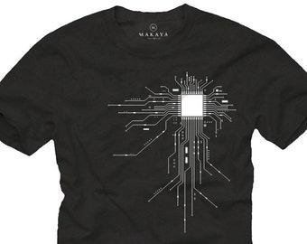Nerd Tshirt for Gamer - Funny mens gift CPU Geek Shirt S-XXXXXL