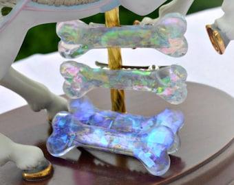 iridescent  bone Clips  Fairy Kei, pastel goth, creepy cute harajuku