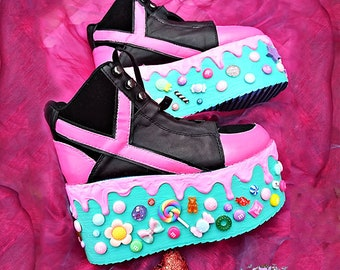 65ea05eacbd6 Candyholic drippy platforms cupcake candy custom made shoes