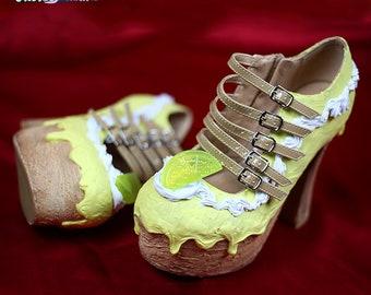 93496c3de2283 Blue rainbow custom made heelless heels shoes one of the kind | Etsy
